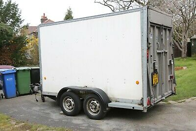 Ifor Williams 8' x 10' Twin Axle Box Trailer with drop down tailgate