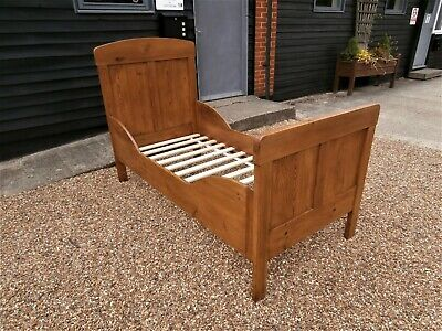 BEAUTIFUL 19th CENTURY PINE CHILDS / SINGLE BED ANTIQUE VICTORIAN WE CAN DELIVER