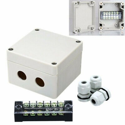 15A 600V Waterproof Electrical Junction Box Connector Wire Cable Case Enclosure