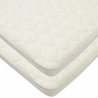 TL Care Twin Pack Waterproof Quilted Bassinet Size Fitted Mattress Cover