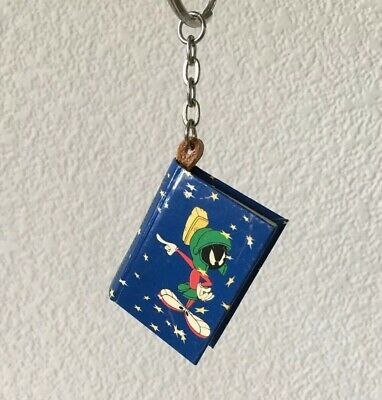 MARVIN the MARTIAN Keychain/Notebook Looney Tunes Key Fob Vintage 1998