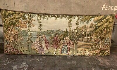 Antique French 19th C Tapestry wall hanging Home decor Large Size