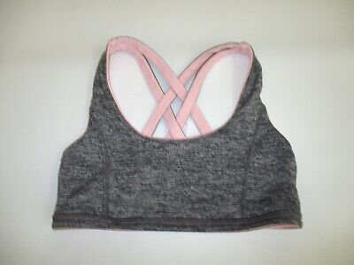 Ivivva 7 Pink Grey Reversible Sports Bra Girls Lululemon Athletic