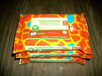 Flushable Wipes Toilet Paper 3 packs (126 Wipes)
