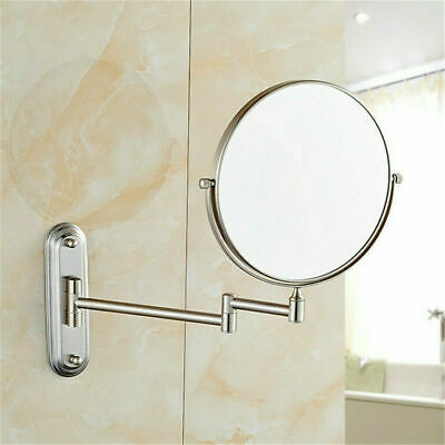 Wall Mount 10X Magnification Shaving Bathroom Magnifying Makeup Mirror Extending