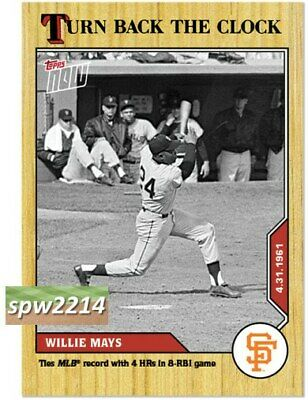2020 Topps Now Turn Back the Clock Willie Mays #31