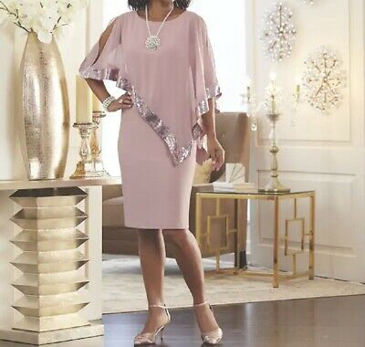 Mother of Bride Groom Church Women's Wedding party Cruise Cape Dress plus 18W 1X
