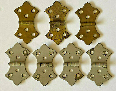 Lot of 7 Antique Brass Butterfly Door Hinges