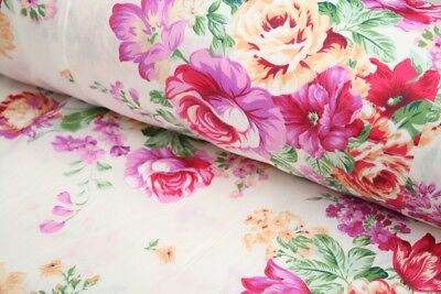 "Big Bunch Floral 100% cotton fabric sold by the meter 63"" /160cm width 1709037"