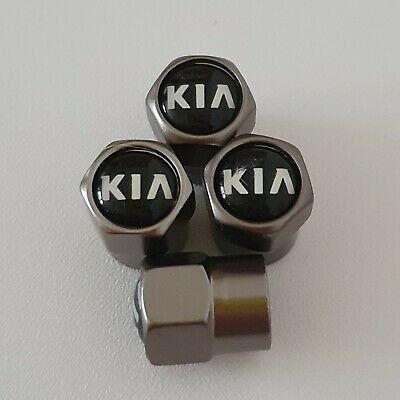 KIA Gun Metal Grey Valve Dust Caps for all models Sportage Sorento Picanto