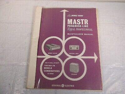 Ge Mastr Progress Line Royal Professional Radio Operator Maintenance Manual