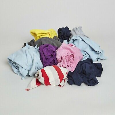 5KG / 10KG Highly Absorbant Coloured Cotton Hosiery Rag & Wipers