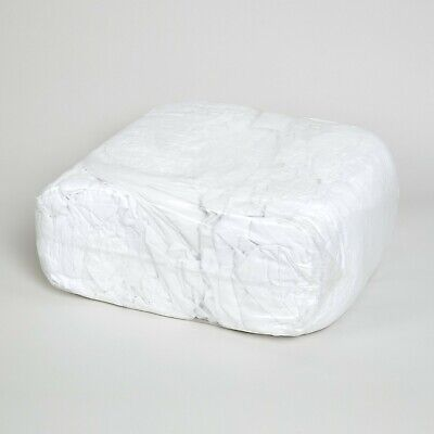 8KG White Cotton Towelling Rags Wipes For Cleaning Polishing & Industrial Use