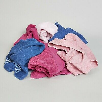 10KG Coloured Cotton Towelling Rags & Wipes For Cleaning Polishing & Industrial