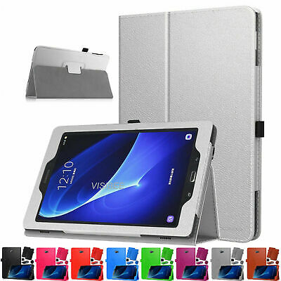 """Leather Flip Stand Folio Case For Samsung Galaxy Tab A6 10.1"""" T580/T585 - (2016)"""