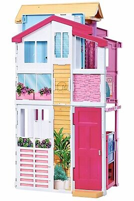 🔥 Barbie Pink Dollhouses Passport 3 Story Townhouse