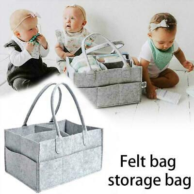 Portable Baby Diaper Organizer Caddy Felt Changing Storage Carrier Bag K5Y8