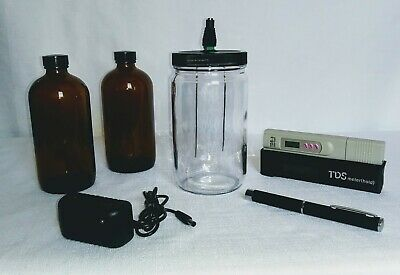 FOUR NINES FINE Colloidal Silver Generator Ionic QUART With TDS Meter 9999 12 GA