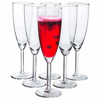Plastic 6 ounce Champagne Flutes 12 pc