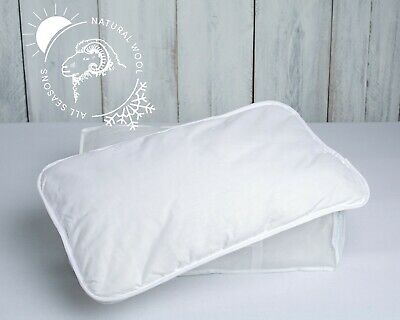Anti-Allergy Cot Bed Cotton Wool Pillow Nursery Junior Kids Baby Toddler