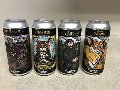 GREAT NOTION Brewing EMPTY Beer Can Lot Of (4) ~ Portland, OREGON
