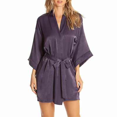 NWT Women Size Medium Large Nordstrom In Bloom by Jonquil Purple Satin Wrap Robe