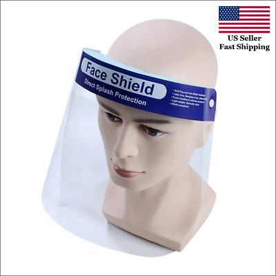 Safety Full Face Shield Clear Protector Work Dental Anti-Fog Splash US STOCK