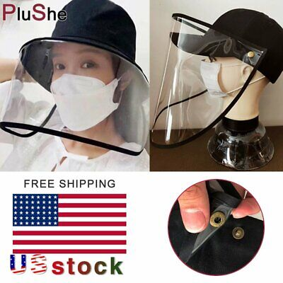 Anti Saliva Removable Face Shield Hat Splash Dust Proof Full Protection Cover