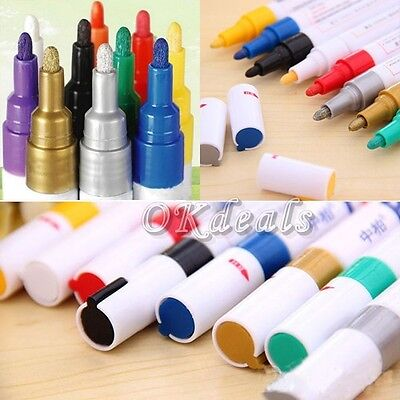 Colorful Universal Waterproof Permanent Motorcycle Car Tyre Tread Paint Marker