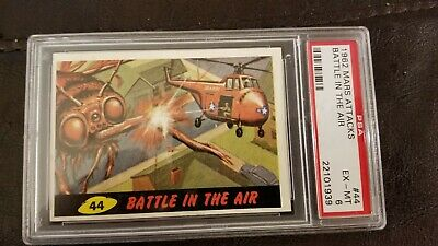 1962 Mars Attacks Card #44 Battle In The Air Psa 6 Ex-Mt