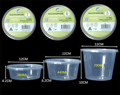 300/500/800PCS Plastic Disposable Takeaway Food container box & Lids pack of 100