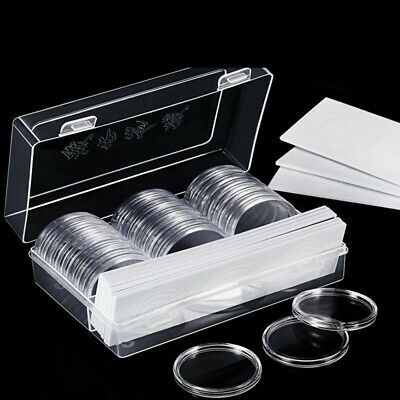 Coin capsule cases Matching eva foam gaskets 30 Pieces Coin Capsules Case