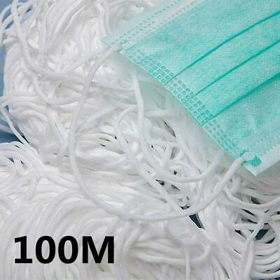 100M Band Elastic Cord Ear Strap Rubber String Thread Sewing Craft 3mm DIY Mouth
