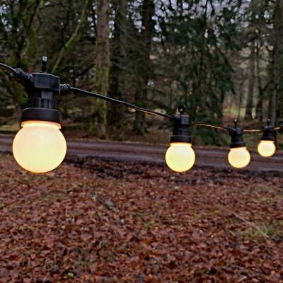 3 - 30 m Festoon Warm White Outdoor Garden LED String Lights | Party Globe Bulb