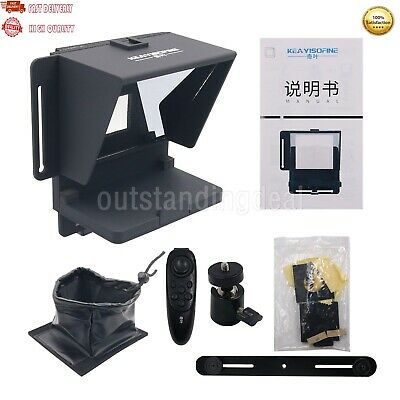 Universal Teleprompter for Vedio Camera Tablet Smartphone with Remote control
