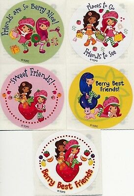 5 x Square Stickers ~ Make a Strawberry Shortcake /& Friends Fruit Cat Dog ~