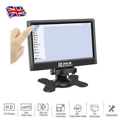 """7"""" IPS Capacitive Touchscreen HD Monitor Display USB Support for Raspberry Pi"""