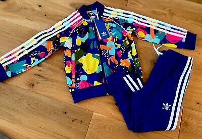Adidas Girl Summer Limited Addition Full Tracksuit Age 3/4 Years So Cute Nwt