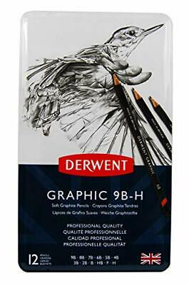 Derwent 34215 Graphic Soft Graphite Drawing Pencils, Set of 12, Professional
