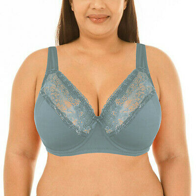 Lace Plus Size Minimizer Full Coverage Support Figure Half Padded Underwire Bra