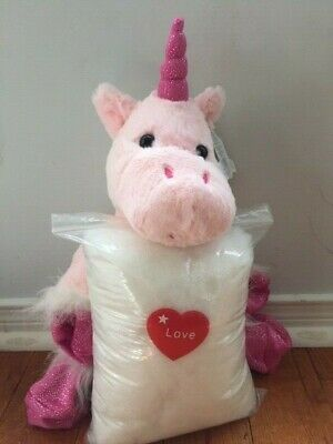 Make your own stuffed UNICORN. Includes everything you need, no sewing required!