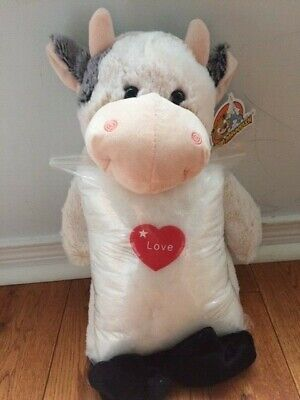 Make your own stuffed COW. Includes everything you need, no sewing required!