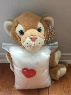 Make your own stuffed LION. Includes everything you need, no sewing required!