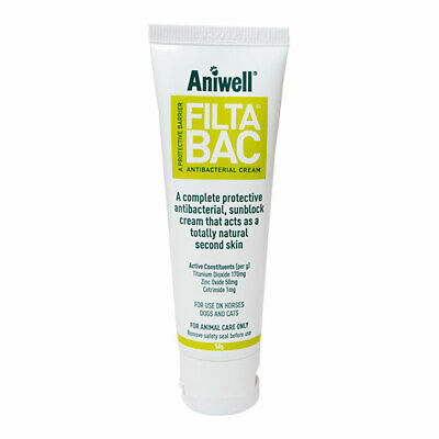 Aniwell FiltaBac Cream 50g Tube - Protective Antibacterial Sunblock for Pets