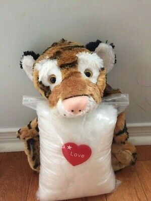 Make your own stuffed TIGER. Includes everything you need, no sewing required!