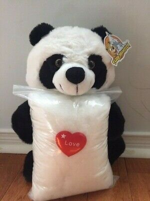 Make your own stuffed PANDA. Includes everything you need, no sewing required!