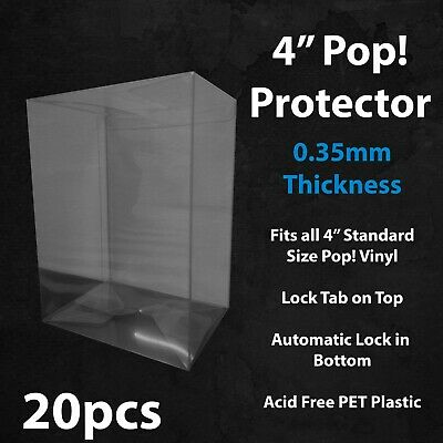 "PRE-ORDER 20 x 4"" Funko Pop! Vinyl Protector Case Acid Free 0.35mm Thick"