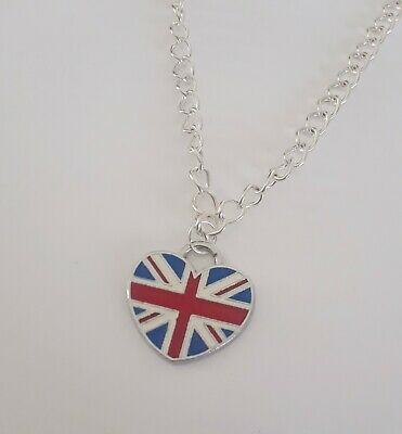 Silver Plated Enamel Charm St Georges Cross London