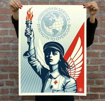 Obey Giant Angel of Hope and Strength Shepard Fairey S/N 550 Print *SHIPS TODAY*