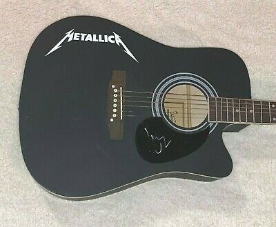 """Lars Ulrich Metallica Autographed Signed 41"""" F/S Custom Acoustic Guitar W/Proof"""